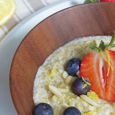 Quinoa Brei mit Zitrone