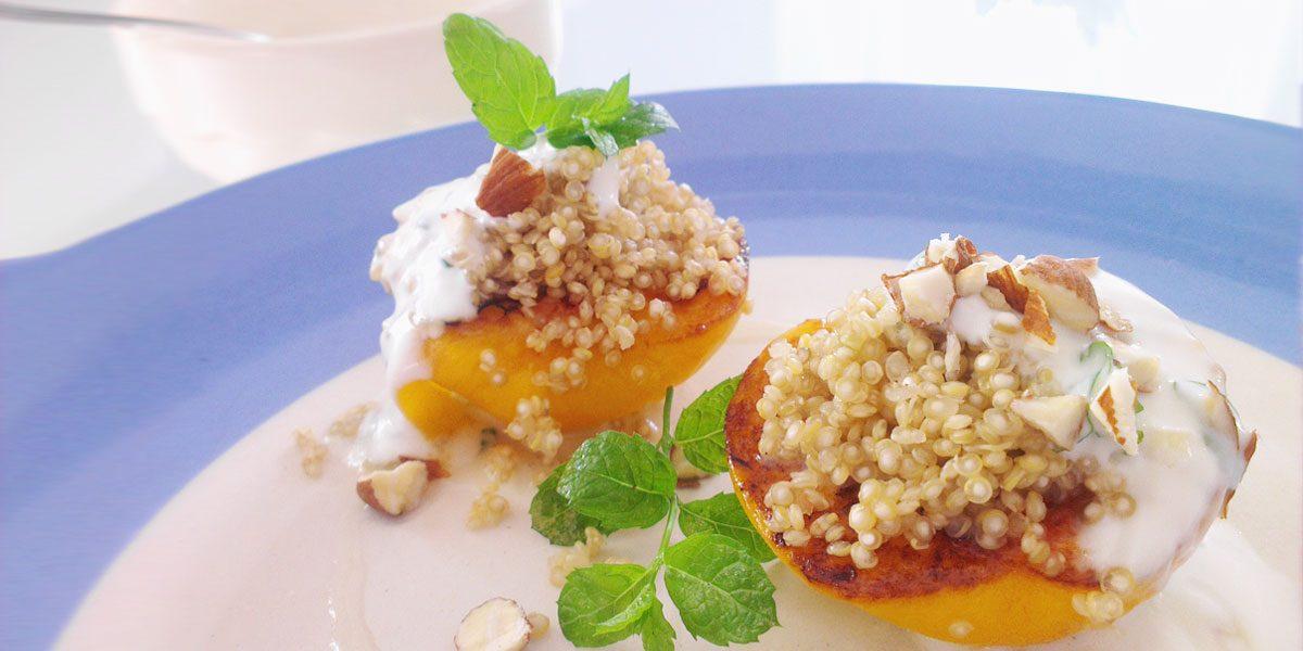 gebratener pfirsich